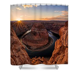 Horseshoe Bend Shower Curtain by Chad Dutson