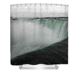 Horseshoe Falls In Winter Shower Curtain