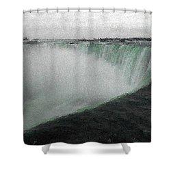 Horseshoe Falls In Winter Shower Curtain