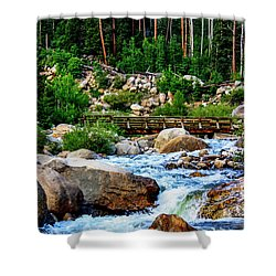 Horseshoe Falls Shower Curtain by Juli Ellen