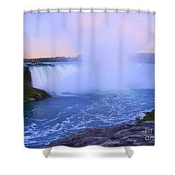 Horseshoe Falls Sunset In The Summer Shower Curtain