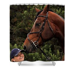 Horsie Nudge Shower Curtain