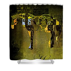 Horso - Sp085134243gr1tx Shower Curtain by Variance Collections