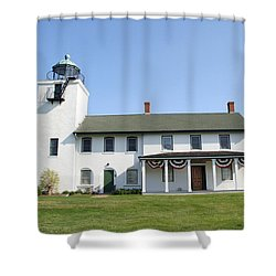 Shower Curtain featuring the photograph Horton's Point  by Karen Silvestri
