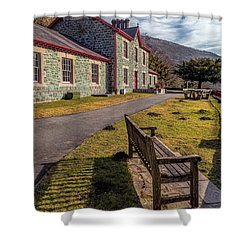 Hospital Bench  Shower Curtain by Adrian Evans