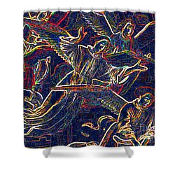 Host Of Angels By Jrr Shower Curtain by First Star Art