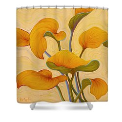 Shower Curtain featuring the painting Hosta Hoofin' by Sandi Whetzel