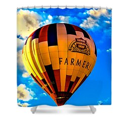 Hot Air Ballon Farmer's Insurance Shower Curtain