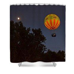 Hot Air Balloon At Night  Shower Curtain