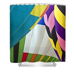 Hot Air Balloon Shower Curtain by Marcia Colelli