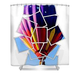 Hot Air Balloon Polaroid Shower Curtain by Edward Fielding