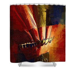 Hot Air Balloon Ready To Go Shower Curtain by Kirt Tisdale