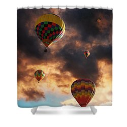 Hot Air Balloons - Chasing The Horizon Shower Curtain