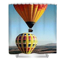 Balloon Stacking Shower Curtain by Richard Engelbrecht