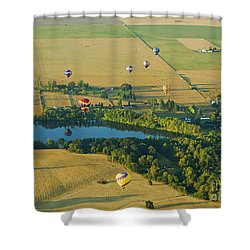 Shower Curtain featuring the photograph Hot Air Reflection by Nick  Boren