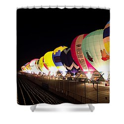 Balloon Glow Shower Curtain by John Swartz