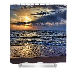 Hot April Sunset Saugatuck Michigan Shower Curtain