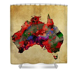 Hot Australia Map Shower Curtain by Daniel Hagerman