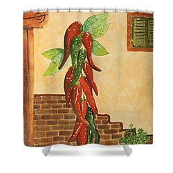 Hot Chili Peppers Shower Curtain by Patricia Novack