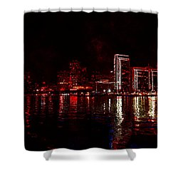Hot City Night Shower Curtain