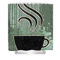 Hot Coffee Shower Curtain by David G Paul