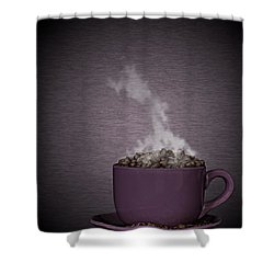 Shower Curtain featuring the photograph Hot Coffee by Gert Lavsen