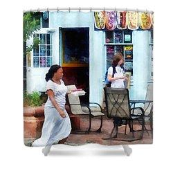 Hot Dog Shop Fells Point Shower Curtain by Susan Savad