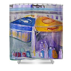 Hot Dogs  Shower Curtain by Leela Payne