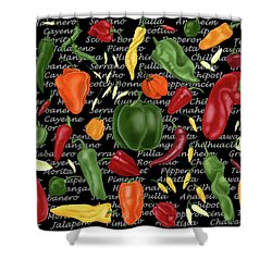 Hot For Chilis Shower Curtain