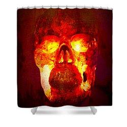 Hot Headed Skull Shower Curtain