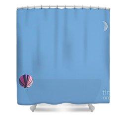 Hot Moon Shower Curtain