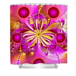 Shower Curtain featuring the photograph Hot Orchid by Sylvia Thornton