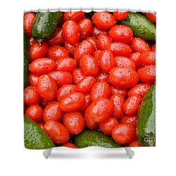 Hot Peppers And Cherry Tomatoes Shower Curtain by James BO  Insogna