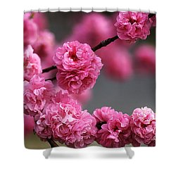 Hot Pink Blossom Shower Curtain by Joy Watson