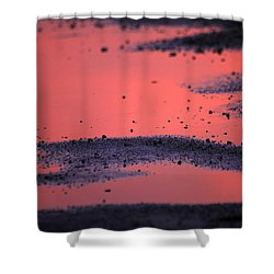 Hot Pink Puddle Shower Curtain by Karol Livote