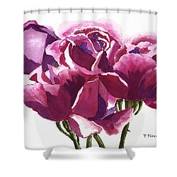 Hot Pink Roses Shower Curtain by Patricia Novack