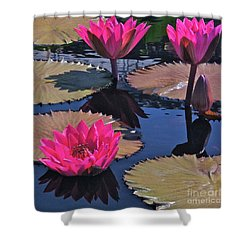 Hot Pink Tropicals Shower Curtain