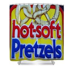 Hot Pretzels Shower Curtain by Skip Willits