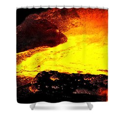 Shower Curtain featuring the photograph Hot Rock And Lava by Pennie  McCracken