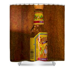 Hot Sauce Two Shower Curtain by Cathy Anderson
