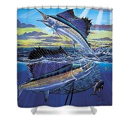 Hot Spot Off0073 Shower Curtain by Carey Chen