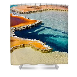 Hot Spring Perspective Shower Curtain