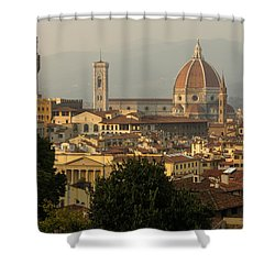 Hot Summer Afternoon In Florence Italy Shower Curtain by Georgia Mizuleva