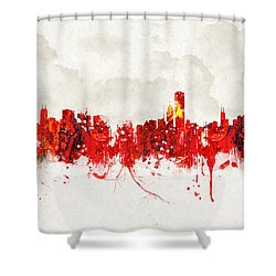 Hot Summer Day In Chicago Shower Curtain by Aged Pixel