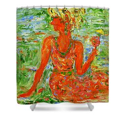 Hot Summer Delight Shower Curtain by Xueling Zou