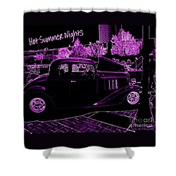 Shower Curtain featuring the photograph Hot Summer Nights by Bobbee Rickard