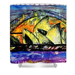 Hot Sydney Night Shower Curtain by Lyndsey Hatchwell