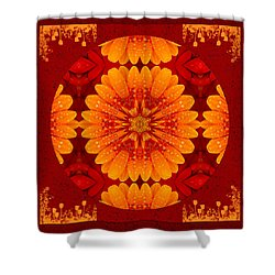 Hot Tropical Zen Shower Curtain