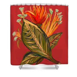 Shower Curtain featuring the digital art Hot Tulip L by Christine Fournier