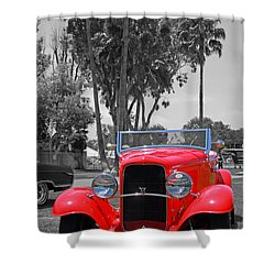 Shower Curtain featuring the photograph Hot V8 by Shoal Hollingsworth